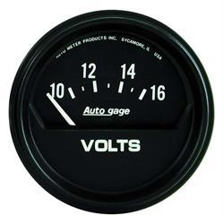 Auto Meter 2319 Auto Gage Air-Core Voltmeter Gauge, 2-5/8 Inch