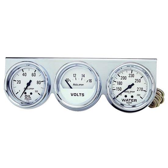 Auto Meter 2397 Gauge Console Black 2 Inch Water Temp Oil Pressure Voltage Gauge