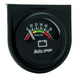 Auto Meter 2356 Auto Gage Air-Core Voltmeter Gauge w/Panel, 1-1/2 Inch