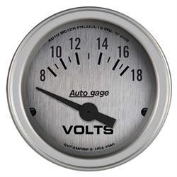 Auto Meter 2380 Auto Gage Air-Core Voltmeter Gauge w/Panel, 2-1/16 In.