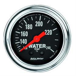Auto Meter 2433 Traditional Chrome Mechanical Water Temperature Gauge