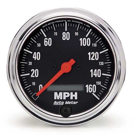 Auto Meter 2489 Traditional Chrome Air-Core Speedometer, 160 MPH 3-3/8