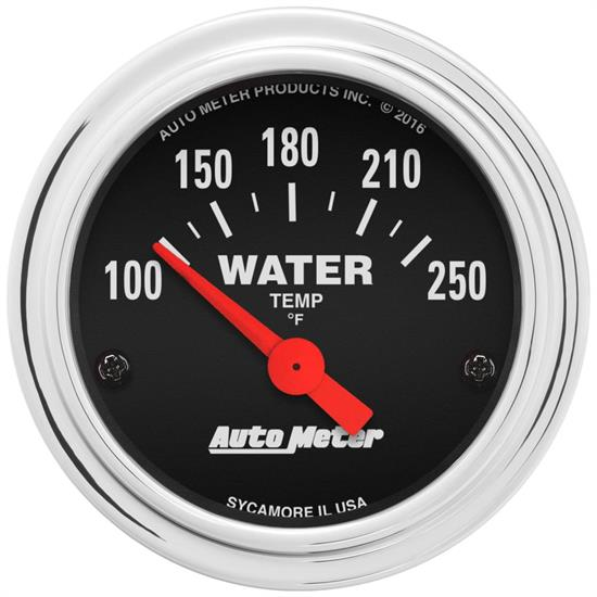 AutoMeter 2532 Traditional Chrome Air-Core Water Temp. Gauge