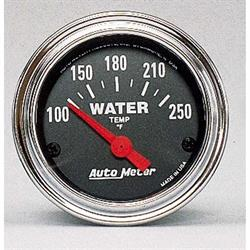 Auto Meter 2532 Traditional Chrome Air-Core Water Temperature Gauge