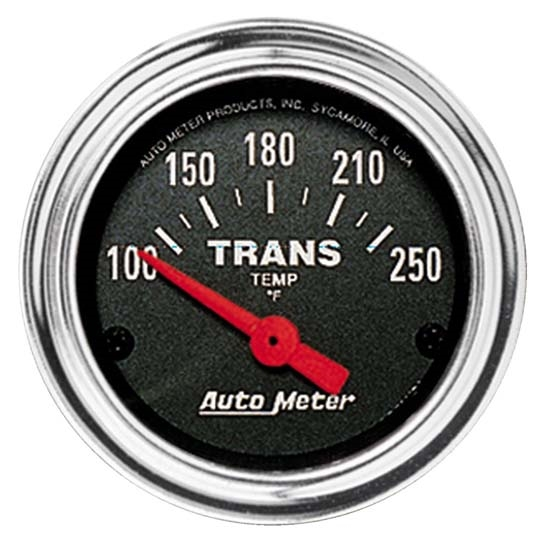 Auto Meter 2552 Traditional Chrome Air-Core Transmission Temp Gauge