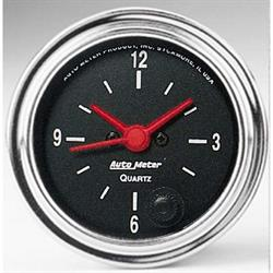 Auto Meter 2585 Traditional Chrome Quartz Clock Gauge, 2-1/16 Inch