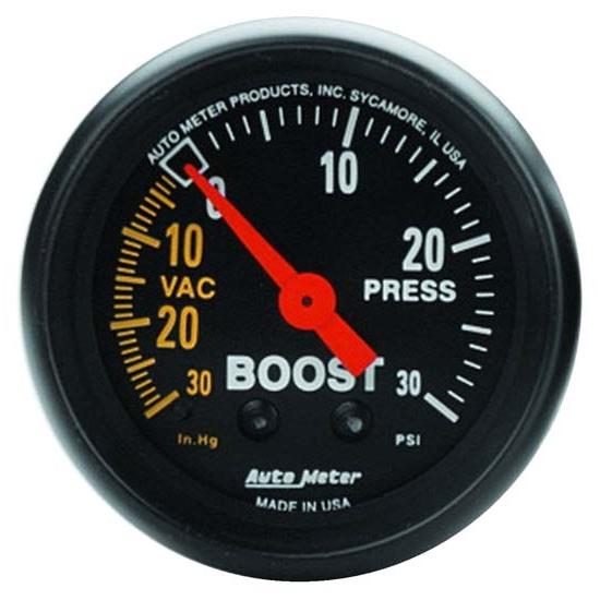 Auto Meter 2601 Z-Series 2 Mechanical Vacuum//Boost Gauge
