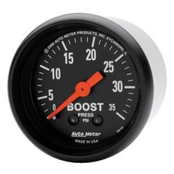 Auto Meter 2616 Z-Series Mechanical Boost Gauge, 35 PSI, 2-1/16 Inch
