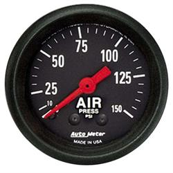 Auto Meter 2620 Z-Series Mechanical Air Pressure Gauge, 2-1/16 Inch