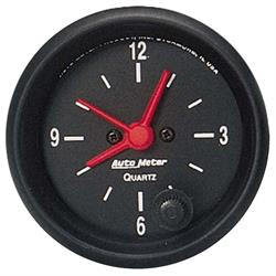 Auto Meter 2632 Z-Series Quartz Clock Gauge, 2-1/16 Inch