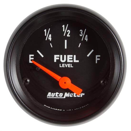 Auto Meter 2652 Z-Series Fuel Level Gauge, 2-1/16, 73/10 Ohm, Flat Lens