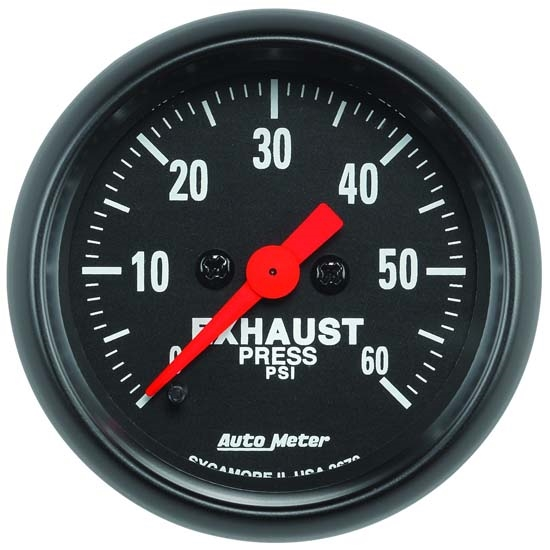 Auto Meter 2672 Z-Series Digital Stepper Motor Exhaust Pressure Gauge