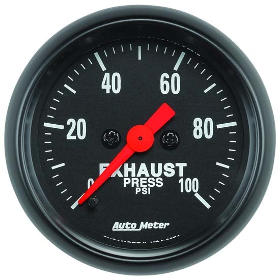 Auto Meter 2674 Z-Series Digital Stepper Motor Exhaust Pressure Gauge