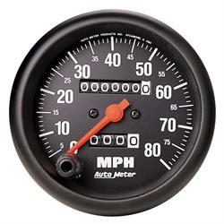 Auto Meter 2690 Z-Series Mechanical Speedometer, 80 MPH, 3-3/8 Inch