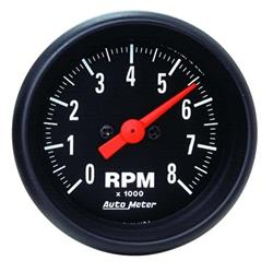 Auto Meter 2698 Z-Series Air-Core In-Dash Tach, 8k RPM, 2-1/16 Inch