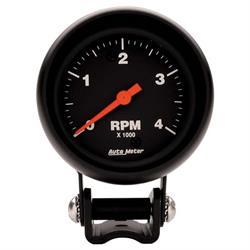 Auto Meter 2890 Z-Series Air-Core Pedestal Tach, 4k RPM, 2-5/8 Inch