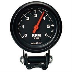 Auto Meter 2891 Z-Series Air-Core Pedestal Tach, 6k RPM, 2-5/8 Inch