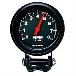 Auto Meter 2892 Z-Series Air-Core Pedestal Tach, 8k RPM, 2-5/8 Inch