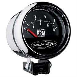 Auto Meter 2897 Traditional Chrome Air-Core Pedestal Tach, 8k, 3-3/4