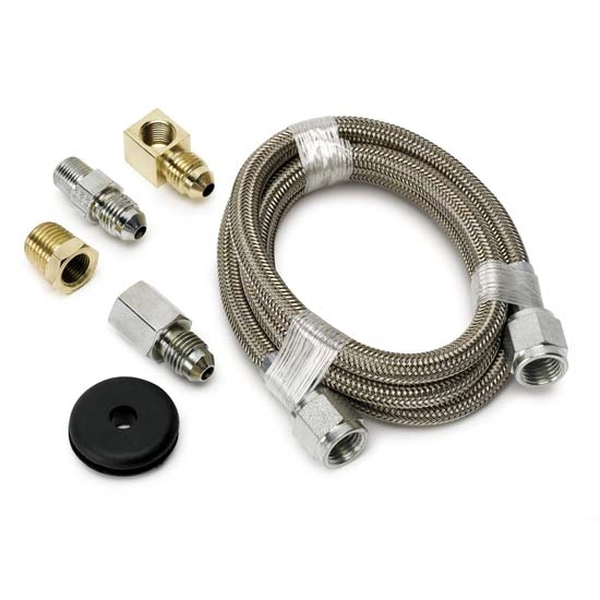 Auto Meter 3227 Stainless Line Kit for Pressure Gauges, -4 AN, 3 FT