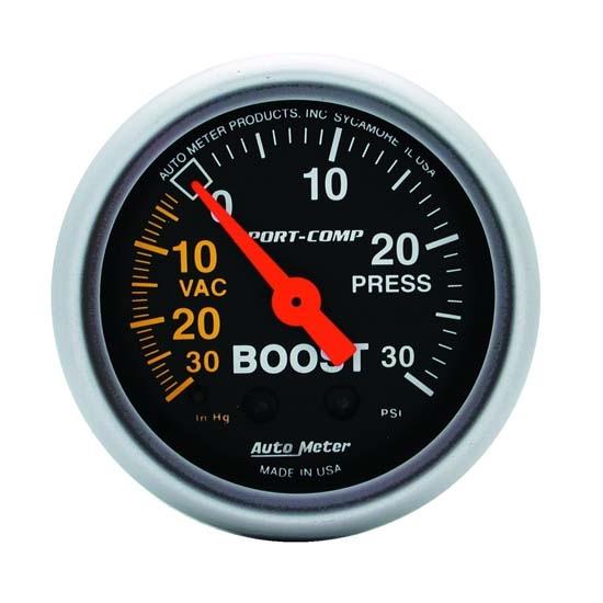 Auto Meter 3301 Sport-Comp Mechanical Boost//Vacuum Gauge