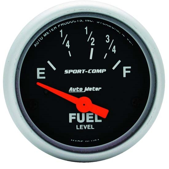 Auto Meter 3315 Sport-Comp Air-Core Electric Fuel Level Gauge, 2-1/16