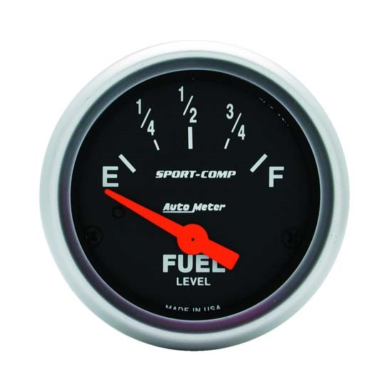 Auto Meter 3316 Sport-Comp Air-Core Electric Fuel Level Gauge, 2-1/16