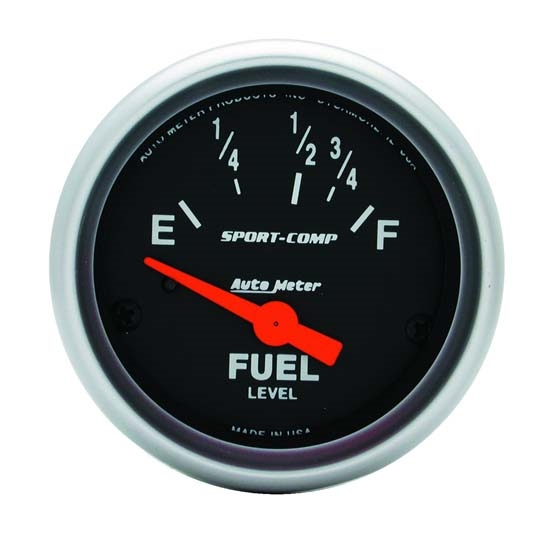 Auto Meter 3318 Sport-Comp Air-Core Electric Fuel Level Gauge, 2-1/16