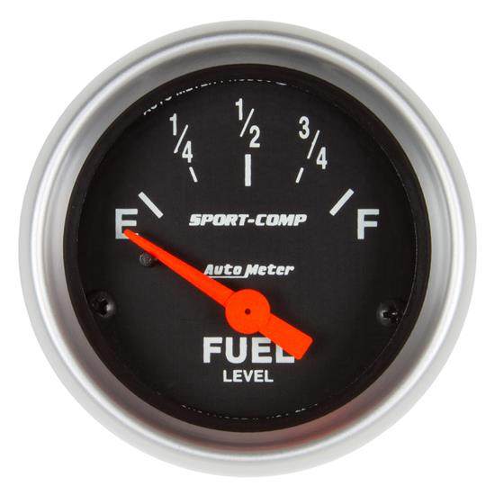 Auto Meter 3319 Sport-Comp Fuel Level Gauge, 2-1/16, 73/10 Ohm, Flat
