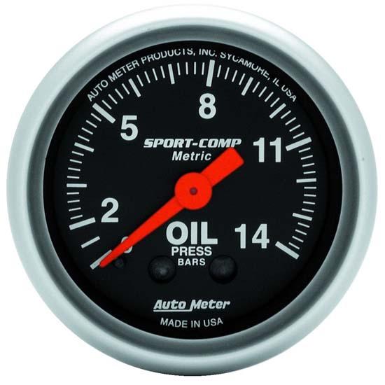 Auto Meter 3421 Sport-Comp Mechanical Oil Pressure Gauge