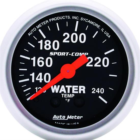 AutoMeter 3332 Sport-Comp Mechanical Water Temperature Gauge