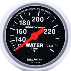 Auto Meter 3332 Sport-Comp Mechanical Water Temperature Gauge