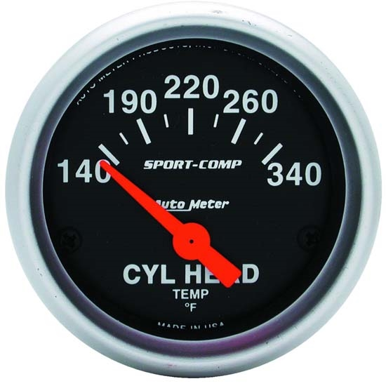Auto Meter 3336 Sport-Comp Air-Core Cylinder Head Temperature Gauge