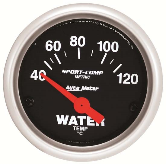 Auto Meter 3337-M Sport-Comp Air-Core Water Temperature Gauge