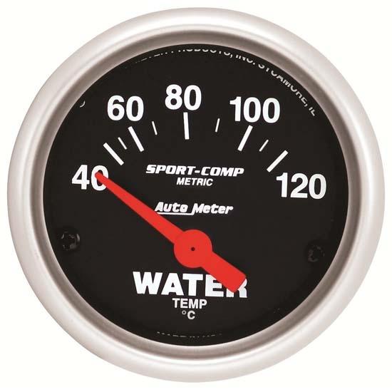 Auto Meter 3332-M Sport-Comp Mechanical Metric Water Temperature Gauge