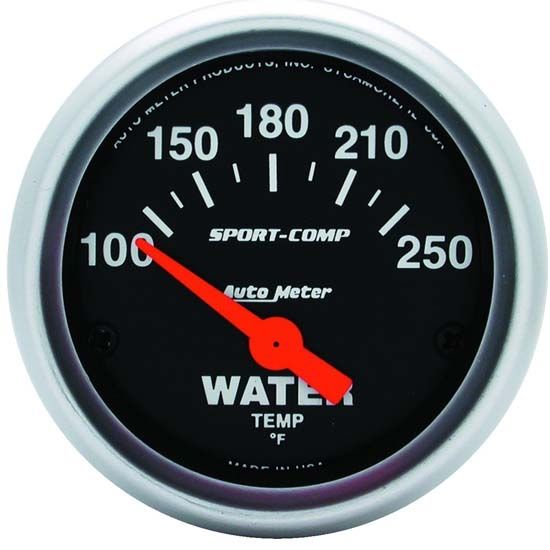 Auto Meter 3337 Sport-Comp Air-Core Water Temperature Gauge
