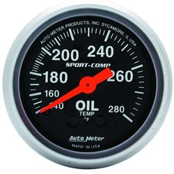 Auto Meter 3341 Sport-Comp Mechanical Oil Temperature Gauge
