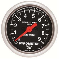 Auto Meter 3344-M Sport-Comp Digital Stepper Motor Pyrometer Gauge
