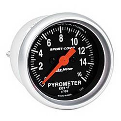 Auto Meter 3344 Sport-Comp Digital Stepper Motor Pyrometer Gauge