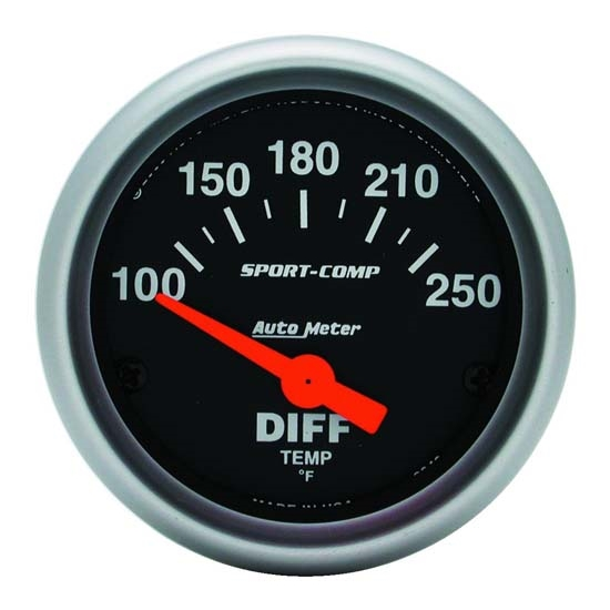 AutoMeter 3349 Sport-Comp Air-Core Differential Temperature Gauge