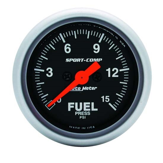 Auto Meter 3361 Sport-Comp Digital Stepper Motor Fuel Pressure Gauge
