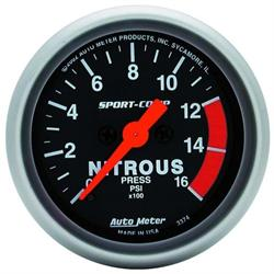 Auto Meter 3374 Sport-Comp Digital Stepper Motor Nitrous Press Gauge