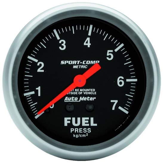 Auto Meter 3412-J Sport-Comp Mechanical Fuel Pressure Gauge