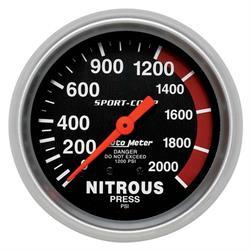 Auto Meter 3428 Sport-Comp Mechanical Nitrous Pressure Gauge