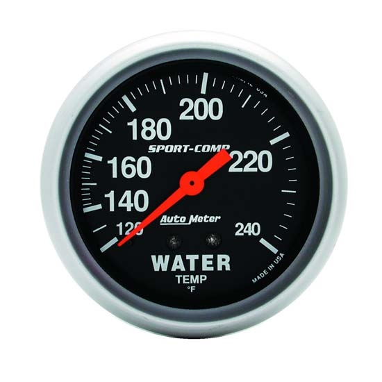 AutoMeter 3432 Sport-Comp Mechanical Water Temperature Gauge