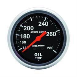 Garage Sale - Auto Meter 3441 Sport-Comp Mechanical Oil Temperature Gauge, 2-5/8 In.