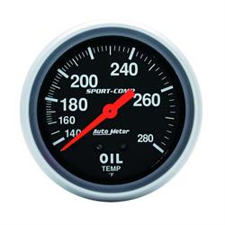 Auto Meter 3443 Sport-Comp Mechanical Oil Temperature Gauge, 2-5/8 In.