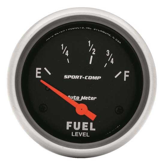Auto Meter 3515 Sport-Comp Air-Core Electric Fuel Level Gauge, 2-5/8