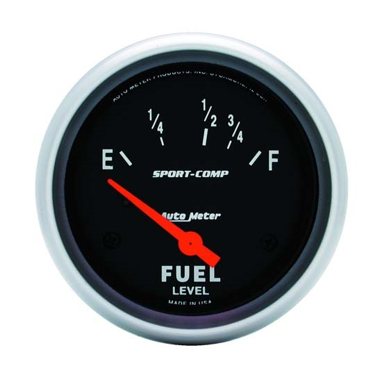 Auto Meter 3518 Sport-Comp Air-Core Electric Fuel Level Gauge, 2-5/8