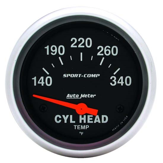 Auto Meter 3536 Sport-Comp Air-Core Cylinder Head Temperature Gauge